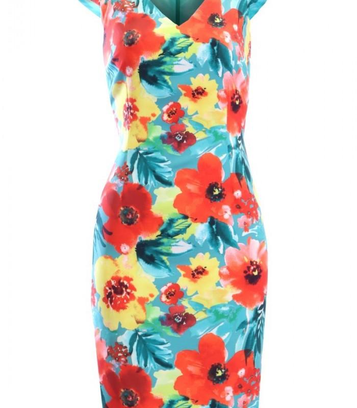 Vestido estampado floral OLIMARA