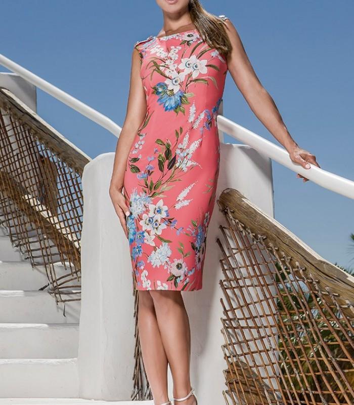 Simple printed OLIMARA dress