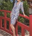 Vestido Olimara con bordado floral y transparencia