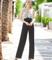 Smock and jumpsuit set Marbella with floral print