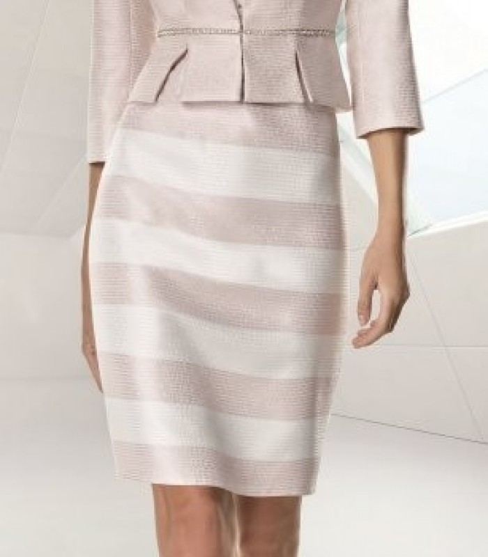 Jacket and lace and striped dress set