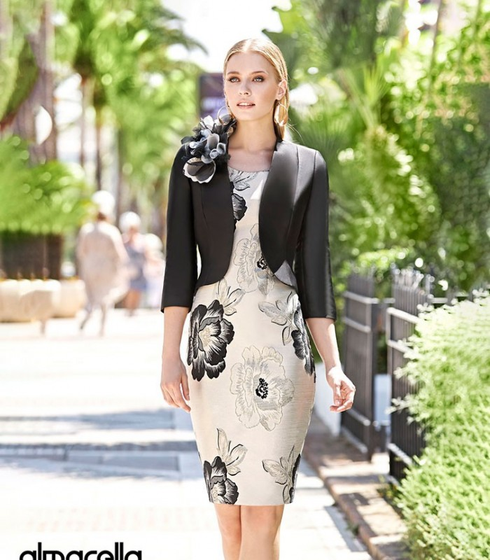 torera and floral print midi dress Marbella set