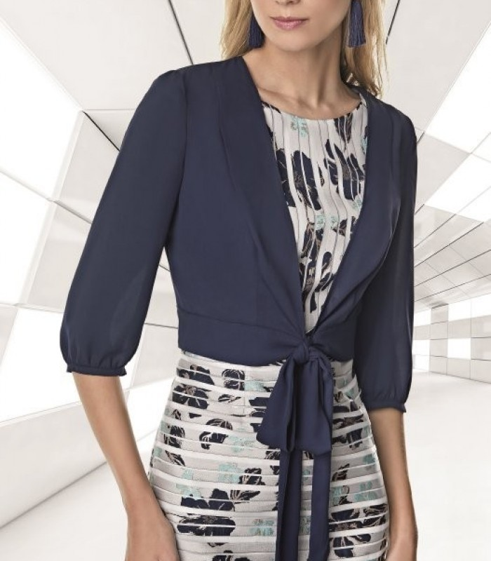 Jacket with lacing and French sleeves