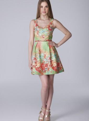 Vestido estampado Olimara