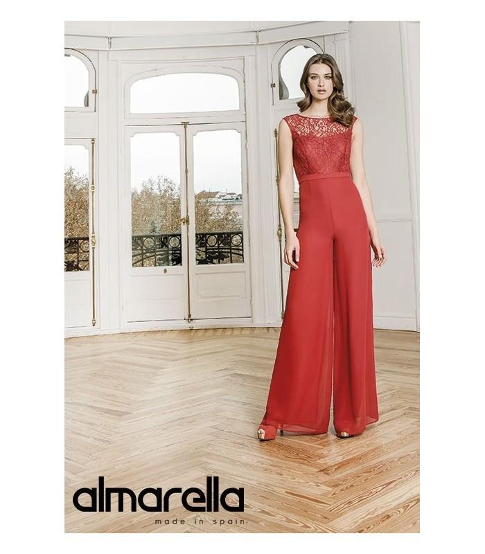 Conjunto Almarella abrigo y top de encaje con pantalón palazzo