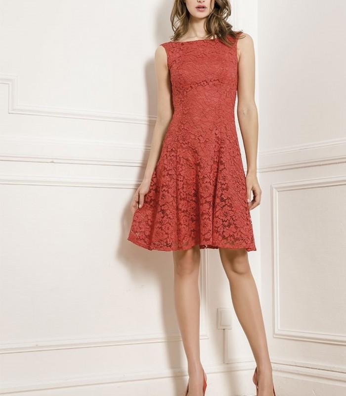 Almarella lace torera and sleeveless midi dress set