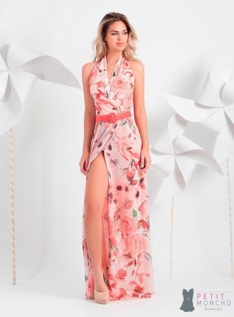 Vestido largo Moncho Heredia estampado floral