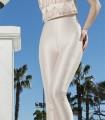 Halter neckline fringe top and pants set