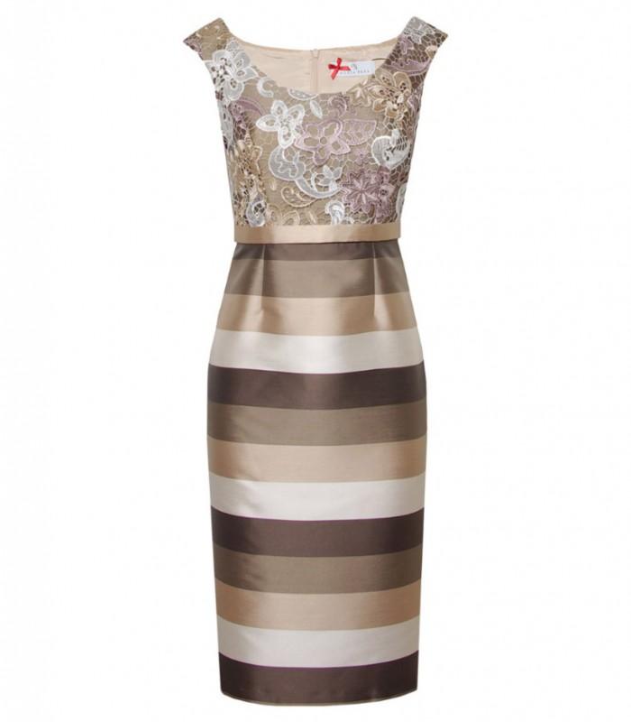 Printed midi dress with jacket