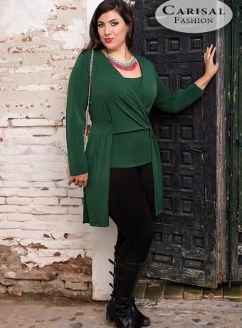 Blusa asimétrica verde