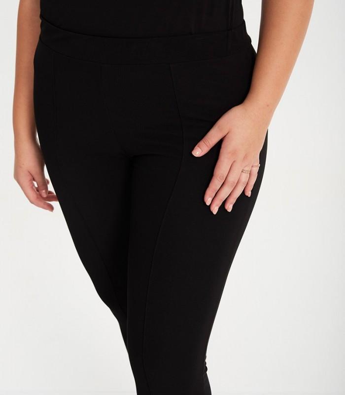 Black knit miniotoman leggings