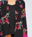 Fuchsia floral print jacket with contrast lining
