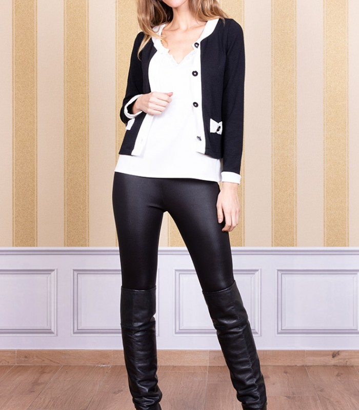 Faux leather pants with skinny fit