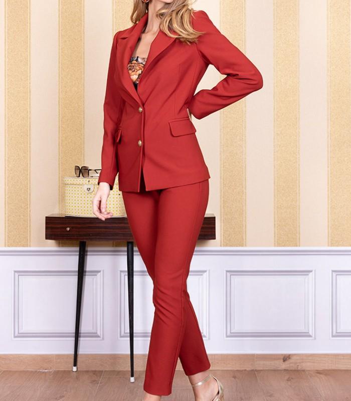 Button-down blazer and capri pants set