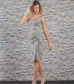 Vestido corto de punto lurex