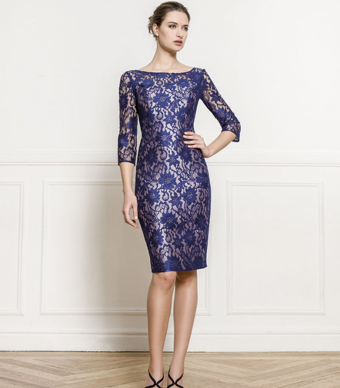 Almarella embroidered midi dress