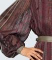 Vestido midi estampado burdeos lurex