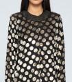 Fantasy polka dot velvet jacket on black background
