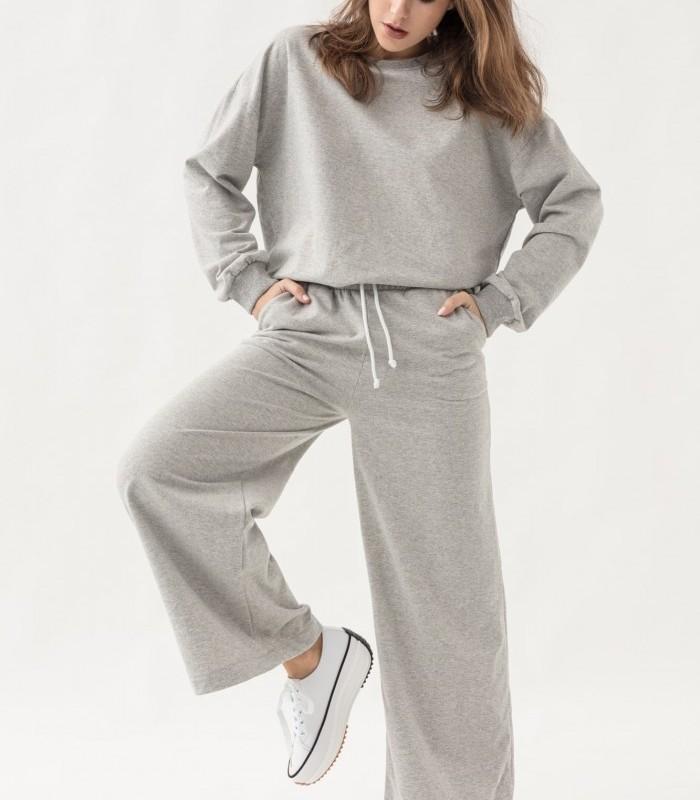 Long oversize plush trousers