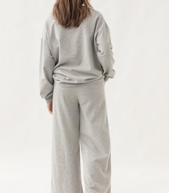 Pantalón largo de felpa estilo oversize