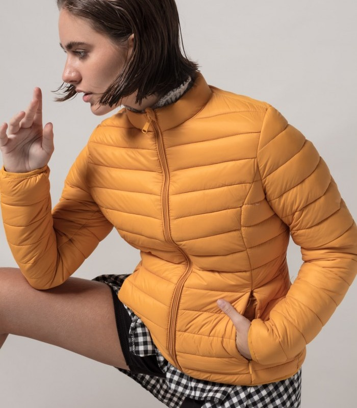 Lightweight padded jacket with zip closure