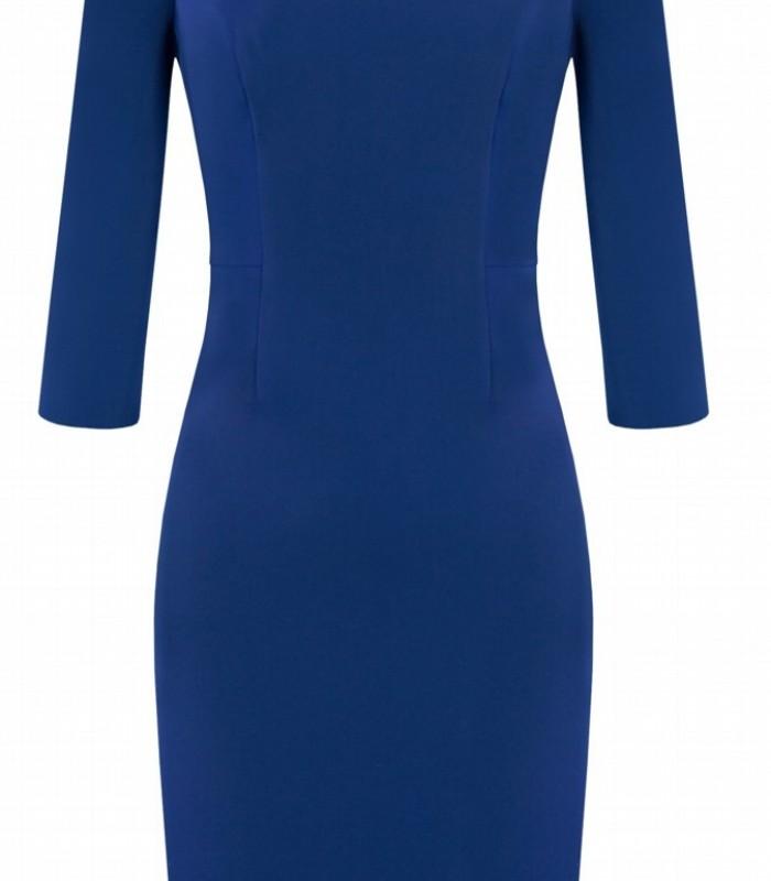 Vestido corto de espalda en V con detalle de pedrería