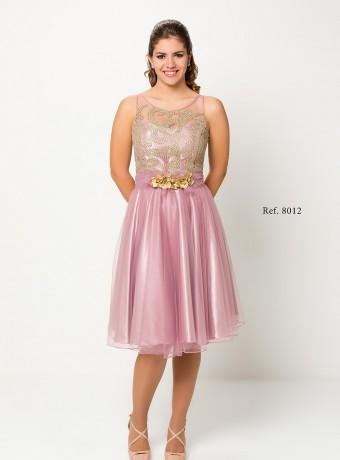Vestido rosa palo tull