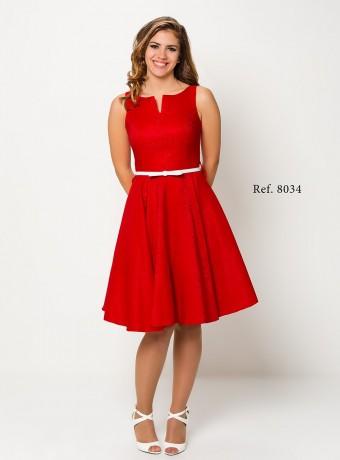 Vestido rojo velvet
