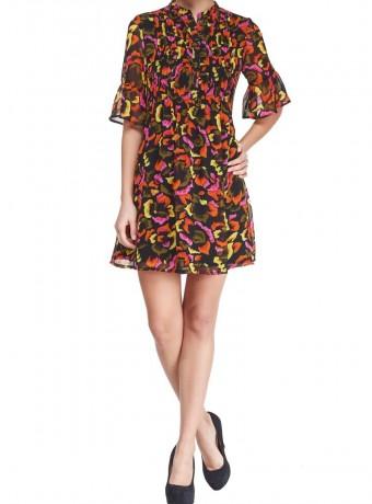 Vestido corto de estampado multicolor