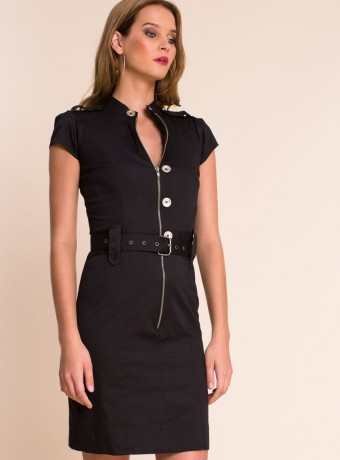 Vestido Almatrichi veronica negro con cremallera