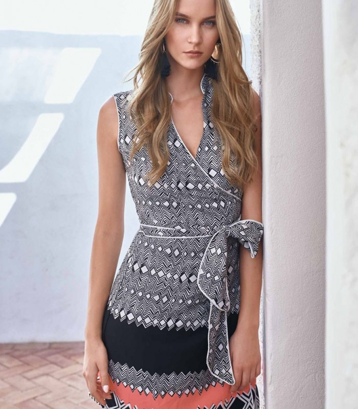 Dress Leticia with crossed neckline