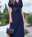 Maxi dress adeline with open leg