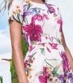 Midi Swing Dress Marta with short sleeves