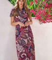 Maxi cashemere dress with split front
