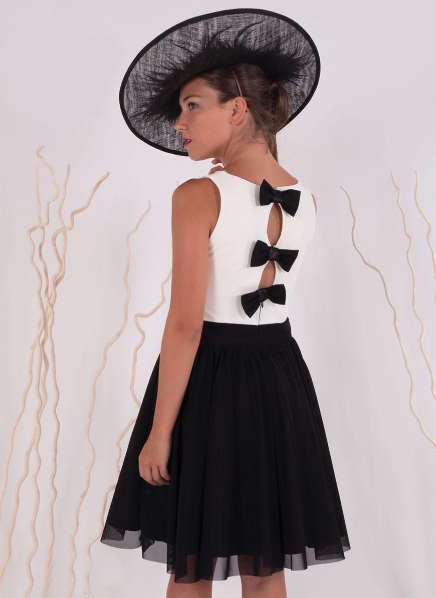 Imagenes de vestidos de blanco y negro
