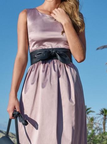 Vestido Simoneta rosa palo