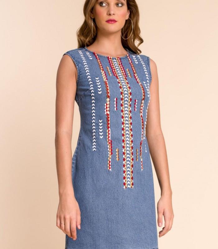 Midi denim dress Noemi