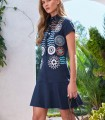 Dress mapi short sleeves